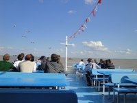 Sightseeing boat tours across lake Neusiedl. Photo: Alexander Ehrlich
